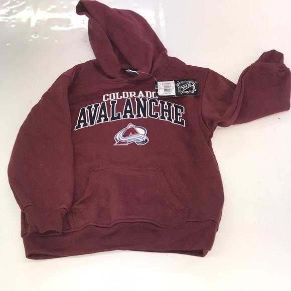 super popular df4ab fab3a Boys NHL Colorado avalanche hoodie size small NWT
